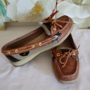 Sperry Leather and Fabric Loafers